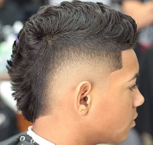 Faux Hawk with Burst Fade and Shape Up