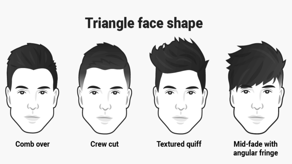 Men's Hairstyles For Triangle Faces Shape