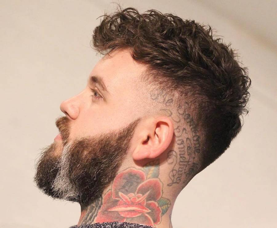 Drop Fade + Textured Curls