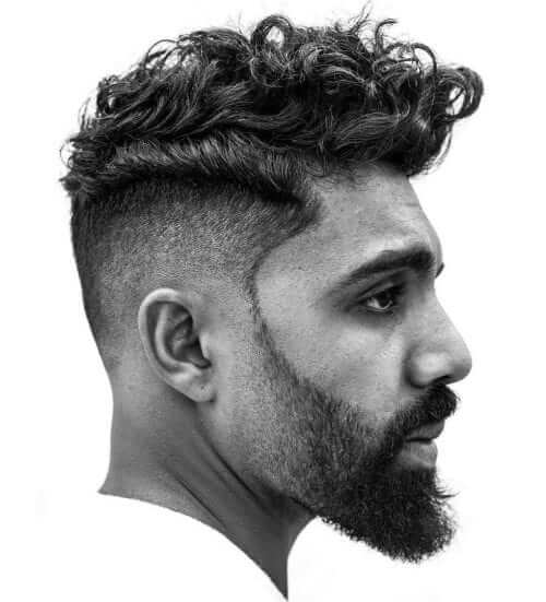 Fade with Sideburns and Beard