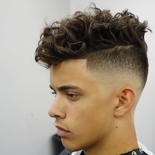 Short Sides + Curly Hair on Top