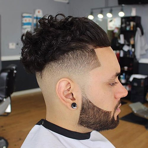 Slick Back Curly Hair