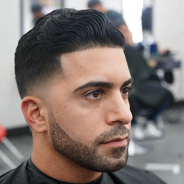 Low Fade Haircut + Thick Wavy Hair