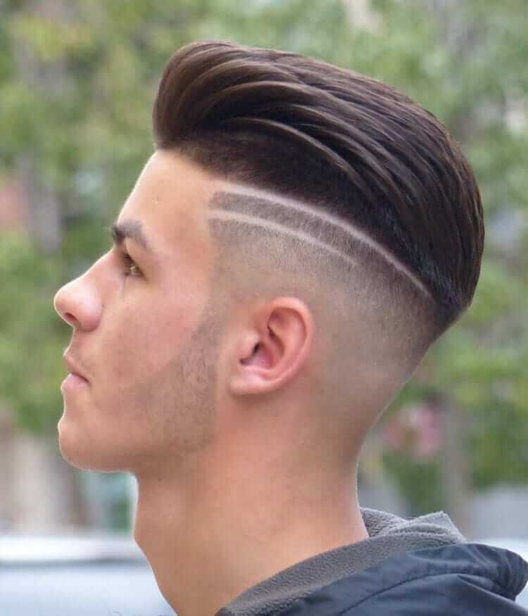 undercut with line design